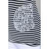 Kép 5/10 - Lafei Nier csipkés - csíkos selyem blúz