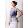 Kép 1/3 - Lafei Nier kék, virágmintás póló