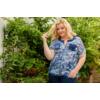 Kép 3/22 - Lafei Nier vidám - vékony kék blúz