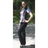 Kép 1/3 - Lafei Nier vékony alap díszítésű, fekete farmernadrág