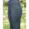 Kép 3/3 - Lafei Nier vékony alap díszítésű fekete farmernadrág