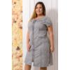Kép 2/6 - Lafei Nier pliszérozott szürke ruha
