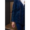 Kép 4/8 - Lafei Nier selyemsálas sötétkék kabát