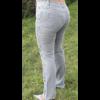 Kép 2/4 - Lafei Nier oldalt hímzett szürke farmernadrág