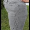 Kép 3/4 - Lafei Nier oldalt hímzett szürke farmernadrág