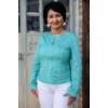 Kép 3/7 - Lafei Nier türkiz színű patentos blézer