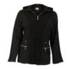 Kép 1/3 - Lafei Nier kötött betétes fekete kabát