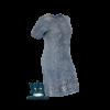 Kép 1/9 - lafei-nier teljesen hímzett farmer ruha