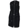Kép 1/4 - Lafei Nier patentos fekete ruha