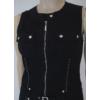 Kép 2/4 - Lafei Nier patentos fekete ruha