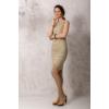 Kép 2/6 - Lafei Nier csipkegalléros homokszínű ruha
