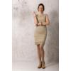 Kép 1/6 - Lafei Nier csipkegalléros homokszínű ruha