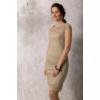 Kép 3/6 - Lafei Nier csipkegalléros homokszínű ruha