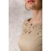 Kép 5/6 - Lafei Nier csipkegalléros homokszínű ruha