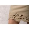 Kép 6/6 - Lafei Nier csipkegalléros homokszínű ruha