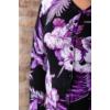 Kép 5/8 - Fekete - lila virágmintás cashmere kardigán