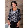 Kép 1/11 - Fekete - fehér nagyvirágmintás cashmere pulover