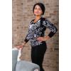 Kép 2/11 - Fekete - fehér nagyvirágmintás cashmere pulover