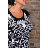 Kép 5/11 - Fekete - fehér nagyvirágmintás cashmere pulover