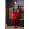 Kép 6/11 - Fekete - fehér nagyvirágmintás cashmere pulover