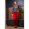 Kép 10/11 - Fekete - fehér nagyvirágmintás cashmere pulover