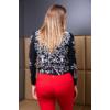 Kép 7/11 - Fekete - fehér nagyvirágmintás cashmere pulover
