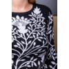 Kép 8/11 - Fekete - fehér nagyvirágmintás cashmere pulover
