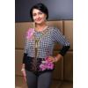 Kép 6/7 - Fekete - zippzár mintás rózsaszín cashmere pulover