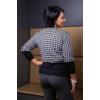 Kép 4/7 - Fekete - zippzár mintás rózsaszín cashmere pulover
