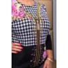 Kép 2/7 - Fekete - zippzár mintás rózsaszín cashmere pulover