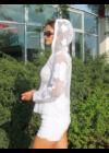 Lafei Nier kapucnis nagyvirágos boleró