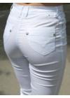 Lafei Nier vékony fehér - szürke nadrág