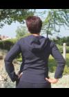 Lafei Nier kapucnis rayon kabát