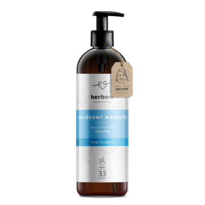 Herbow folyékony mosószer fehér ruhákhoz - friss illat 1000ml