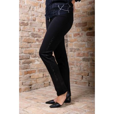Lafei Nier - Rayon oldalán apró köves fekete nadrág