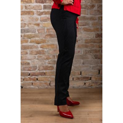 Lafei Nier - Rayon hosszanti csíkos fekete nadrág