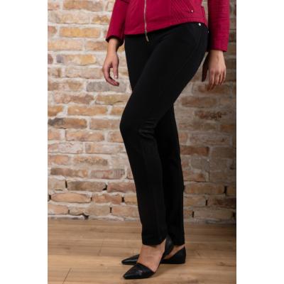 Lafei Nier - Rayon szűkülő szárú gumis derekú fekete nadrág