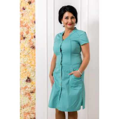 Lafei Nier türkiz gombos ruha
