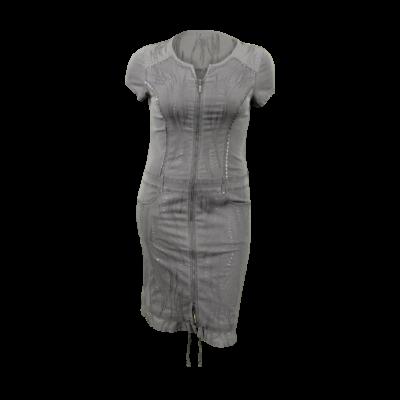 lafei nier anyagában hímzett farmer ruha