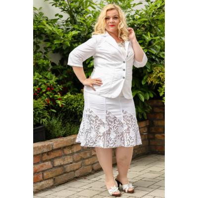 Lafei Nier hosszú csipkés loknis fehér szoknya