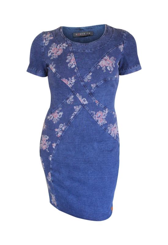 Agatera keresztbe virágos ruha