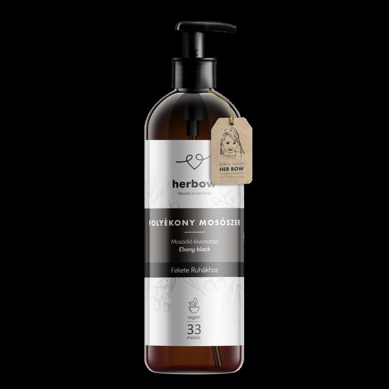 Herbow folyékony mosószer fekete ruhákhoz - Aloe vera 1000ml