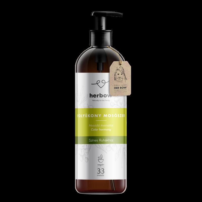 Herbow folyékony mosószer színes ruhákhoz - Zöld tea 1000ml