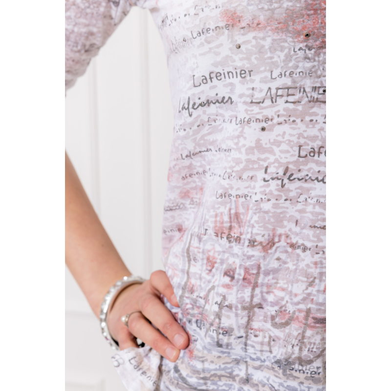 lafei nier rózsaszín feliratos póló