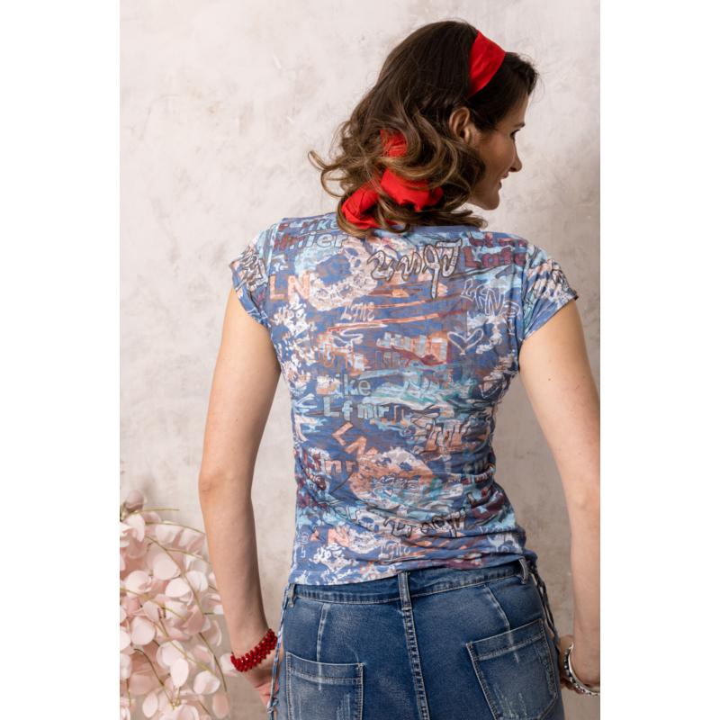 Lafei Nier absztakt mintás póló