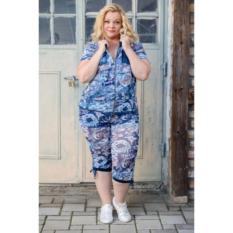 Lafei Nier vidám - vékony kék blúz