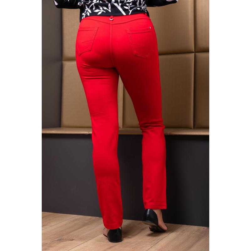 Lafei Nier szűkülő szárú piros rayon nadrág
