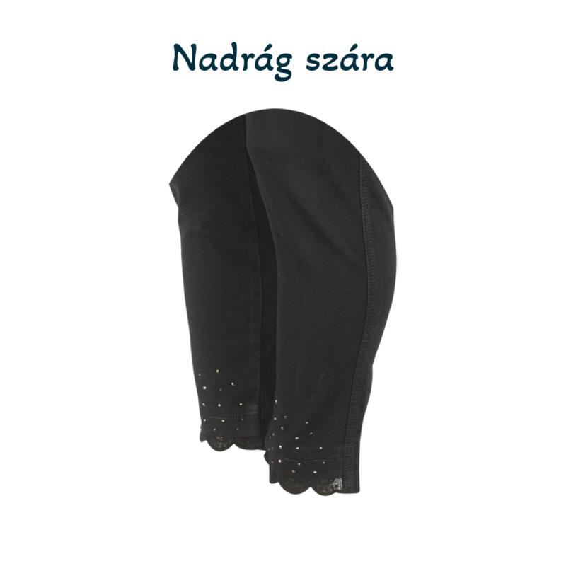 Lafei Nier csipkés - köves fekete, farmernadrág