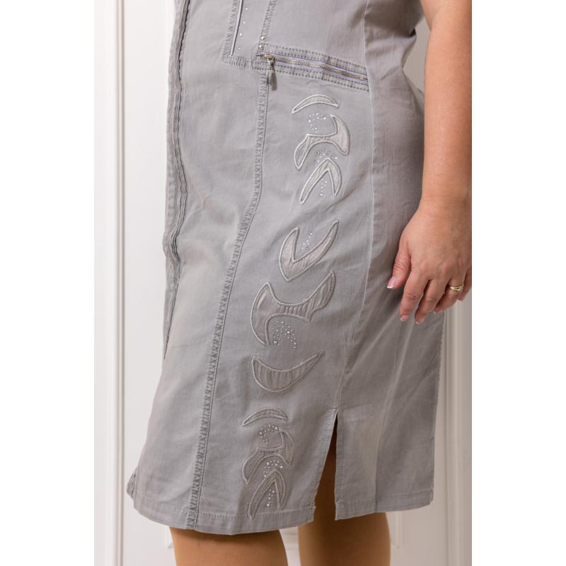 Lafei Nier pliszérozott szürke ruha