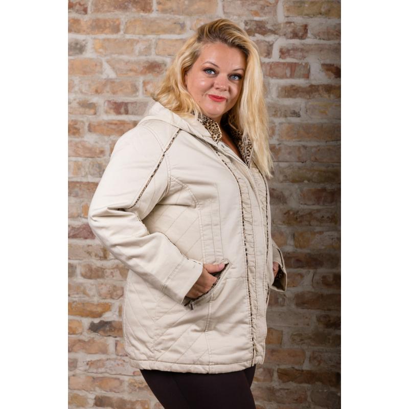 Lafei Nier selyemsálas bézs kabát